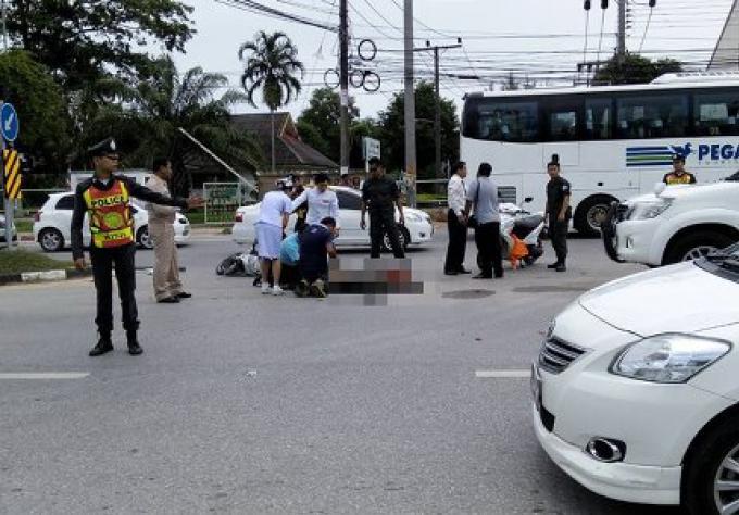 Un policier de Phuket a été tué par un chauffeur de minibus en état d'ébriété