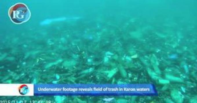 Rapport d'une vidéo: Champ d'ordures révélé au large de la plage de Phuket