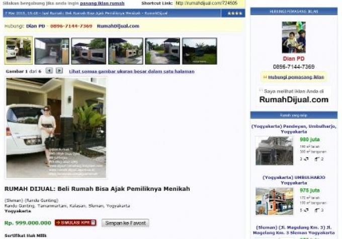 Humour en Indonesie: Achetez la maison obtenez la mariée gratuitement