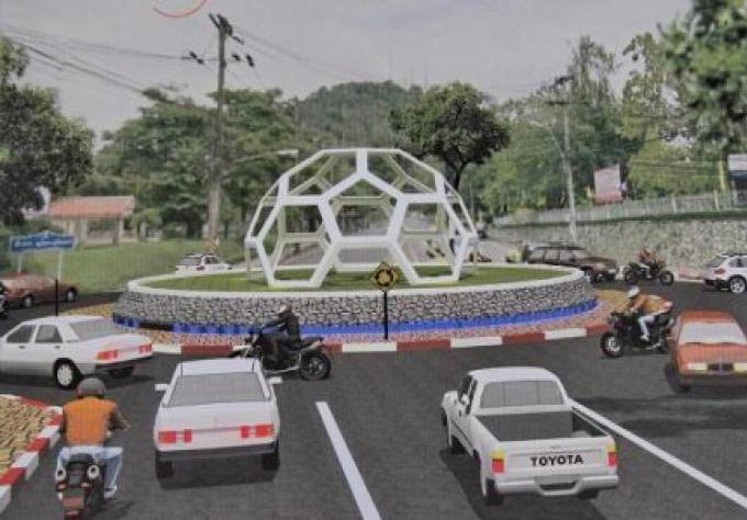 La Fondation Des Routes plus Sécurisées,  finance pour la construction du nouveau rond-point