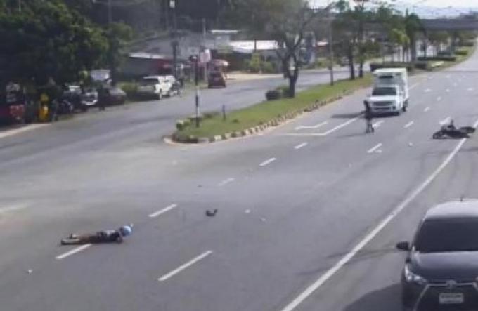 Victime d'un accident à Phuket, il est renversé ensuite par un camion