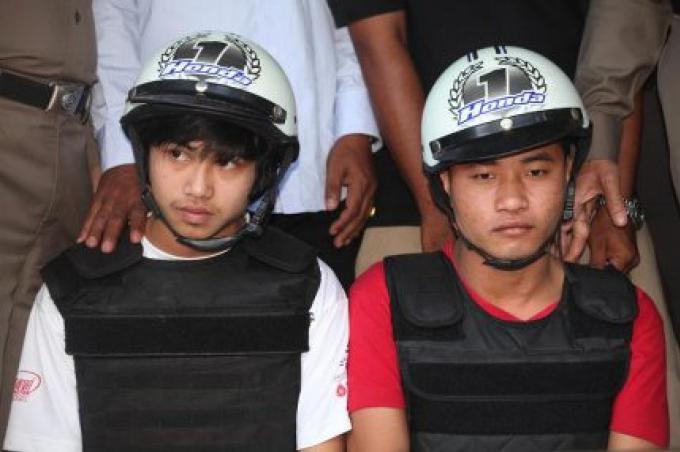 Les hommes Myanmar condamnés à mort pour avoir assassiner les 2 touristes britanniques