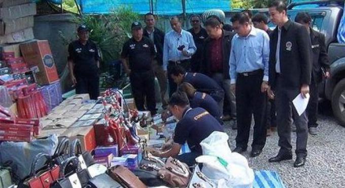 B20mn de fausses marchandises de contrebande saisies à Phuket, Hat Yai