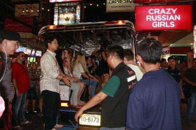 Danseuses de Go-GO Russes, Kazakhstans  arrêtées à Pattaya