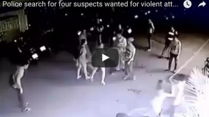 La police recherche des suspects après l'attaque violente près du marché populaire de nuit de Phu
