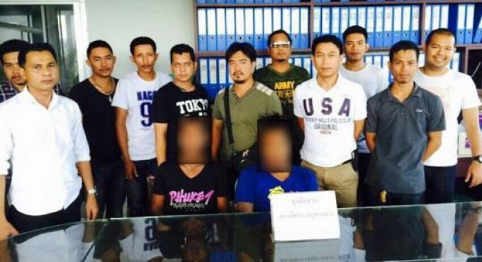 Les frères arrêtés pour leur participation présumée aux émeutes de Phuket