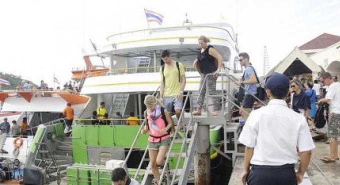 La sécurité augmentée aux  jetées de Phuket