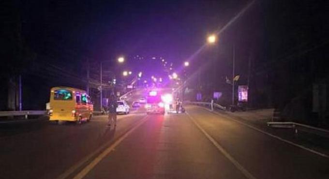 Un homme étranger est mort en sautant devant un bus à Patong