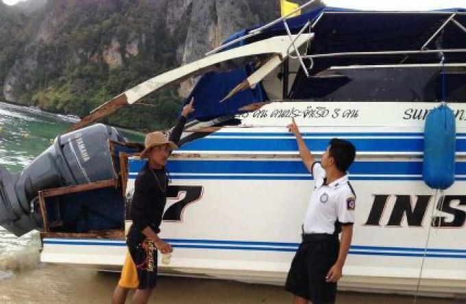 Un autre accident de Speedboat: Cinq touristes chinois blessés