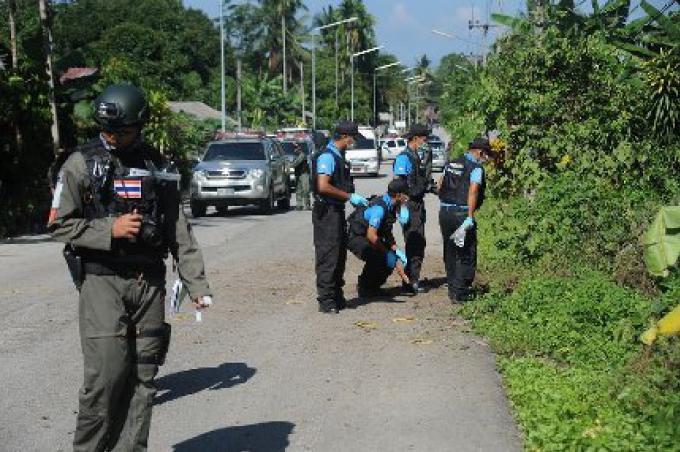 La police a découvert une rocket à Hat Yai