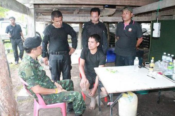 La base des insurgés cachés à Pattani