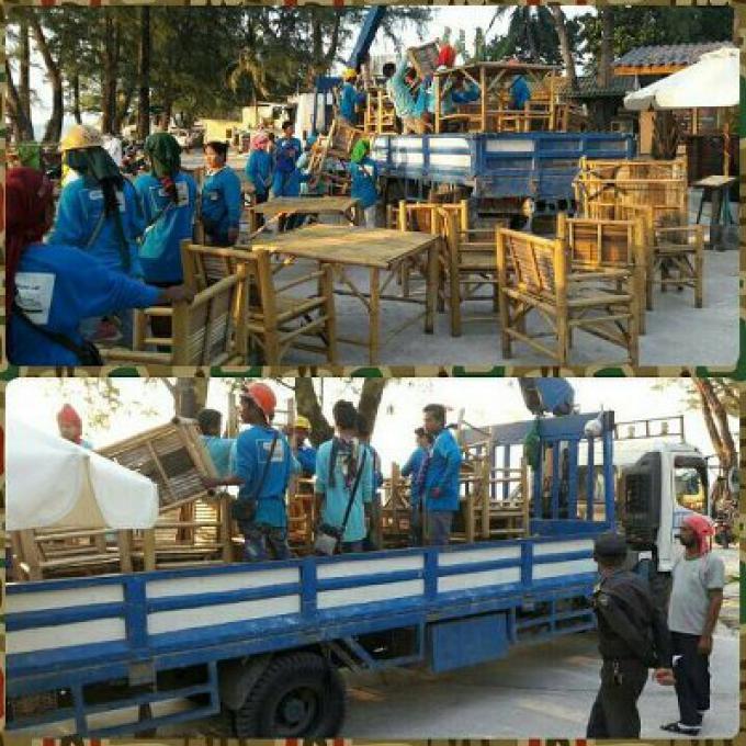 Des meubles en bambou saisis, un suspect arrêté pour un empiétement à Bangtao Beach
