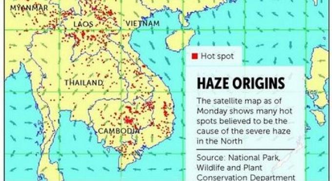 Prayut appelle à l'aide des pays voisins dans la crise de brume