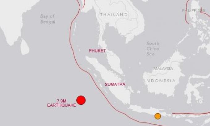 L'Indonésie a émis une alerte au tsunami après tremblement de terre d'emplitude 7,9, au large de
