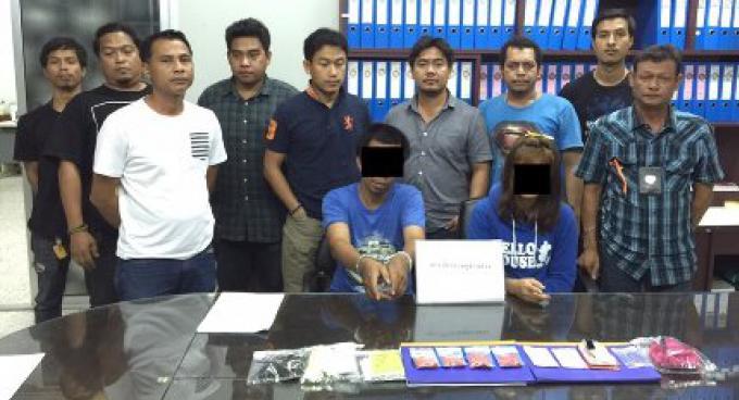 Deux personnes arrêtés à Phuket avec 861 pilules de Ya bah et du Ya ice