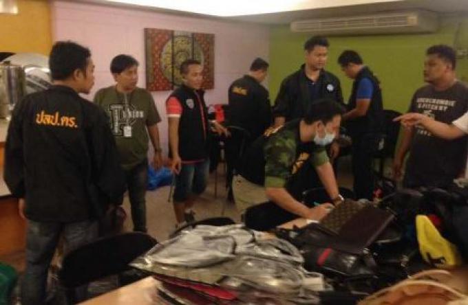 La police saisit des objets contrefaits d'une valeur de 500 000 B à Patong