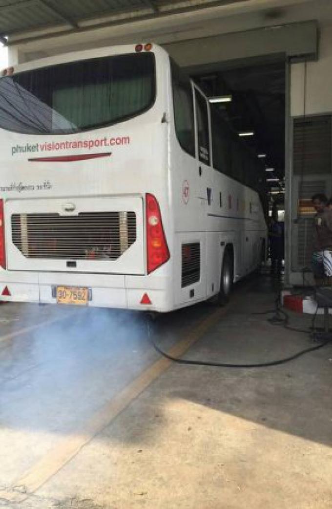 Le bus qui a été interdit de rouler à cause de fumée noire d'échappement peut revenir à ses af