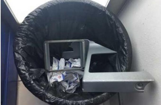 Voleur ou voleurs infructueux dans la tentative de voler un ATM de Phuket