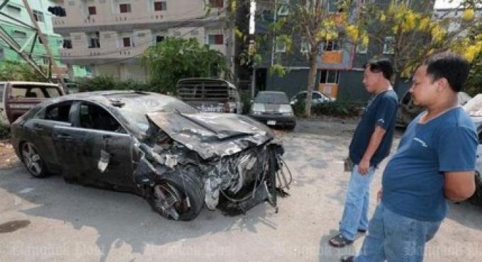 La mercedes Benz dans l' accident du 13 mars roulait jusqu'à 257km/h