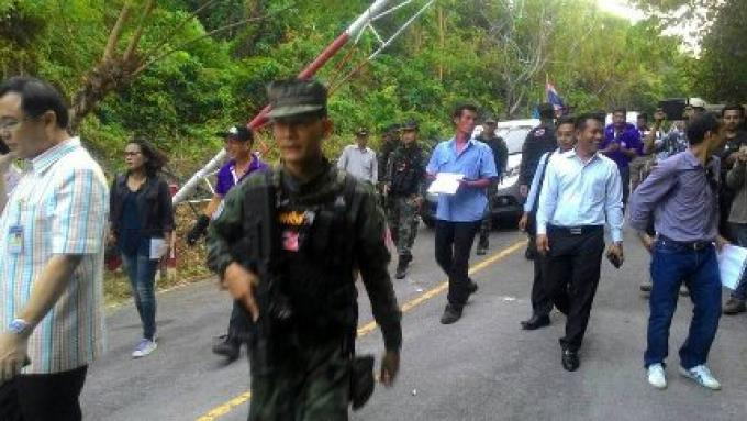 La route menant à la plage Laem Nga a été réouverte temporairement