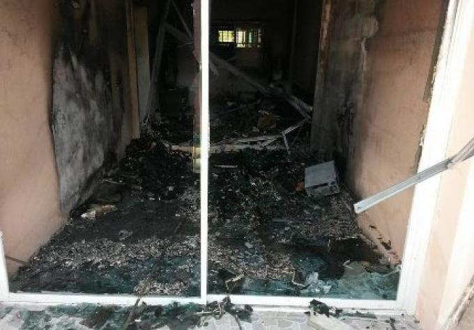 Le feu de la maison de Phuket qui détruit le contenu d'une pièce