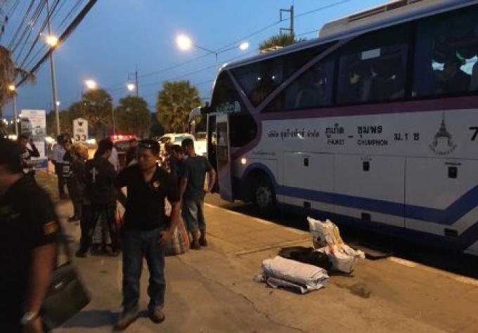 Le conducteur de bus de Chumphon-Phuket 69 ans et son accompagnateur 26 ans pris pour une tentative