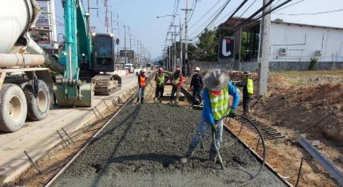 Les travaux au nouveau passage de Chalong, aujourd'hui peuvent provoquer des retards dans la circula
