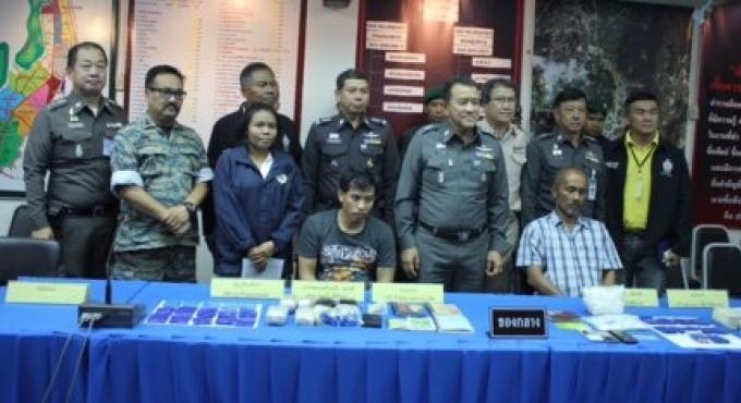 Quatre personnes arrêtées à Phang Nga avec une valeur de B6M de drogue