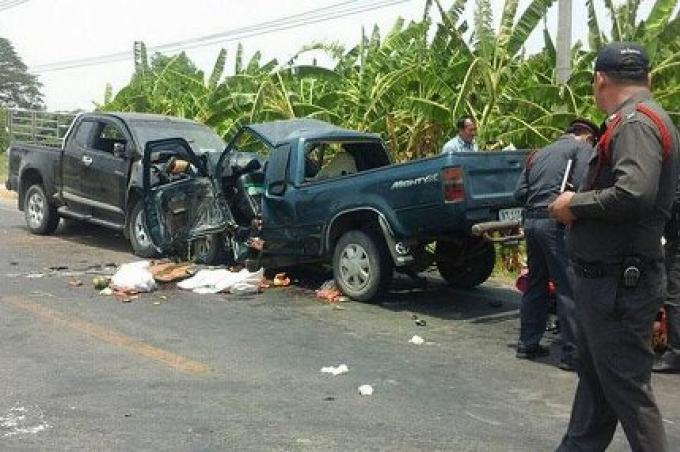 Les accidents de la route pour la Songkran ont été comptabilisés à près du double de 2015 en se