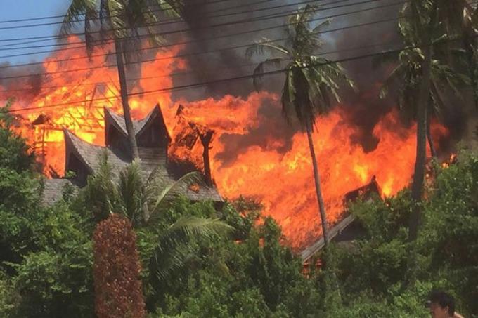 Le feu détruit une attraction touristique qui devait ouvrir bientôt