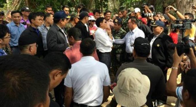Le chef de l'armée Régionale a été satisfait sur les plages dégagées de Phuket
