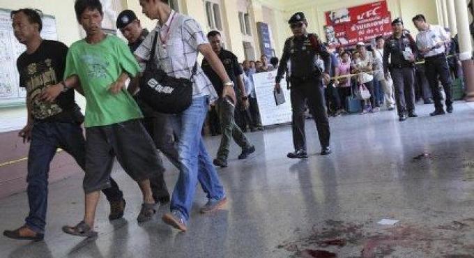 Un homme interrogé pour l'explosion à la gare de Bangkok