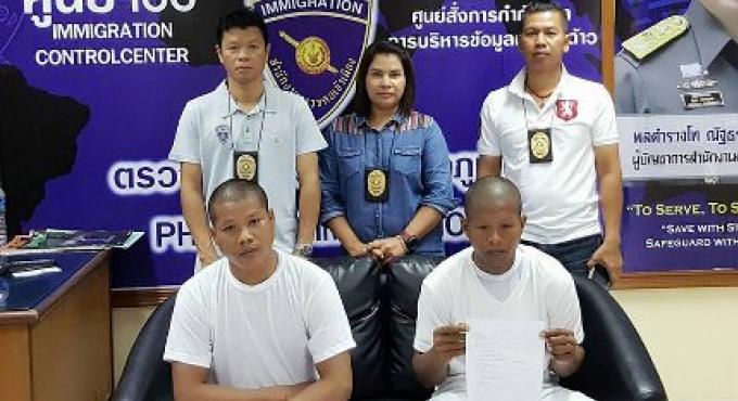 Phuket Immigration arrête 2 faux moines cambodgiennes