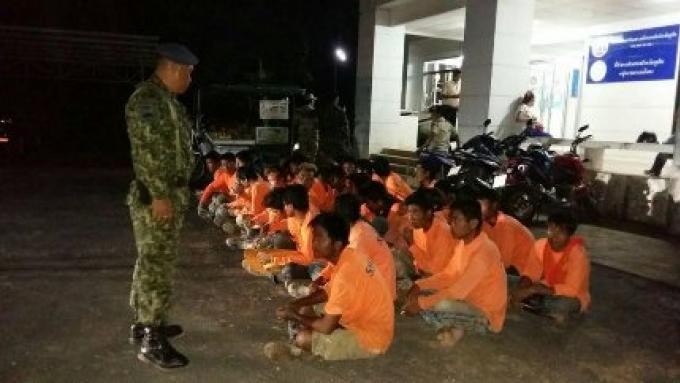 28 migrants clandestins attrapés dans différents raids contre la lutte du trafic humain
