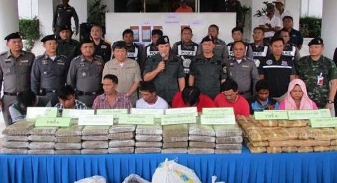 B125m de drogue saisi par la police de Chumphon