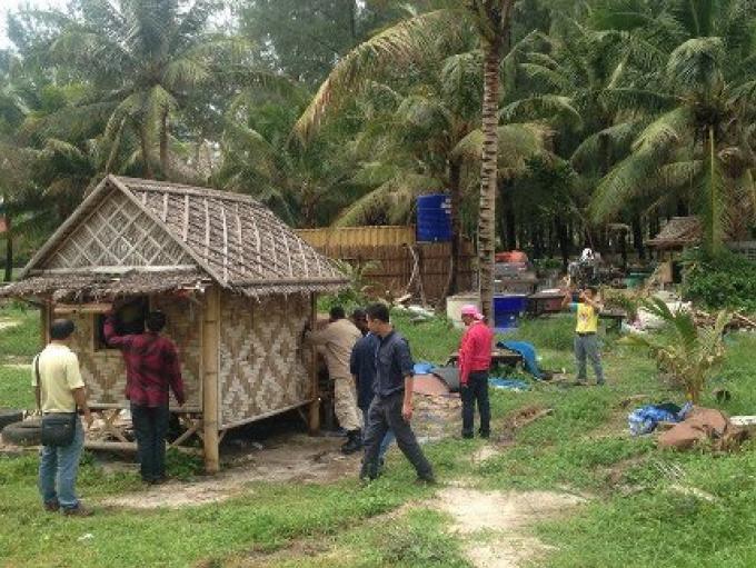Dernières entreprises de la plage de Ley Pang Beach