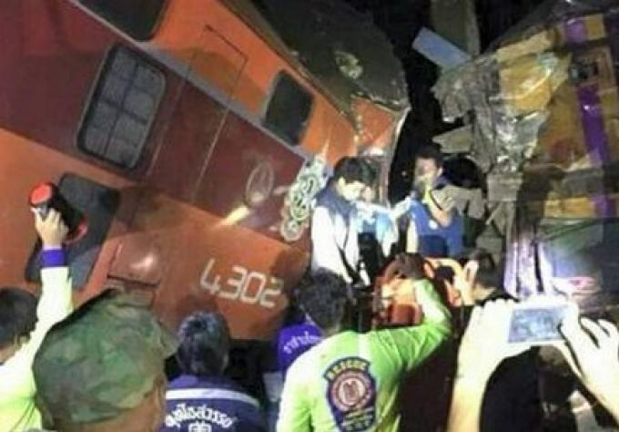 Plus de 50 blessés dans un accident de train Thai