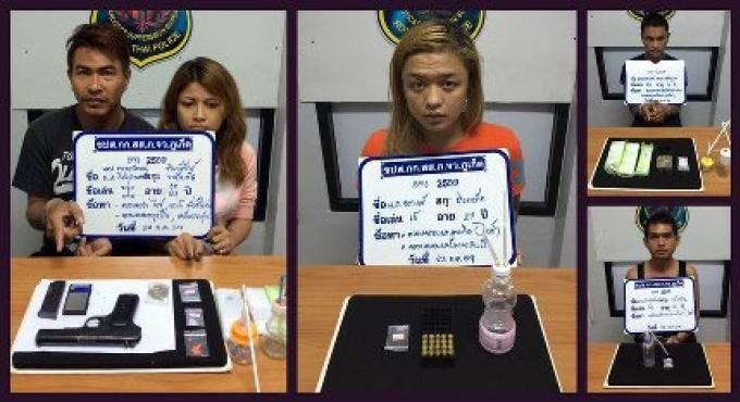 Six personnes arrêtées dans la campagne anti-drogue et la criminalité de Phuket