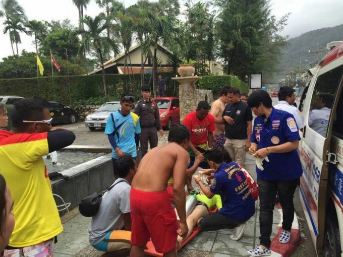 Des touristes chinois sauvés de la noyade à Patong, Kata