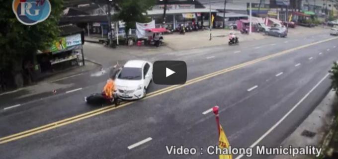 Vidéo: d'accidents sur Chao Fa, un endroit où de nombreux accidents ont lieu