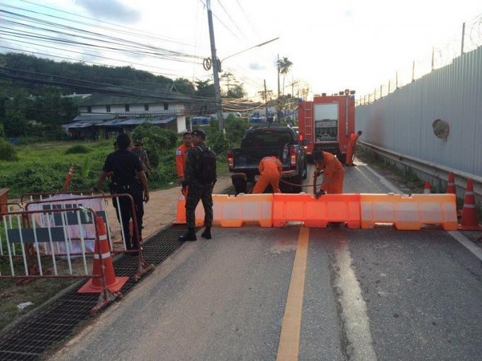 La route longeant la piste de l'aéroport restera fermée suite aux dégâts causés par le glisse