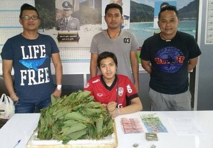 Un homme arrêté à Phuket avec du kratom et du ganja