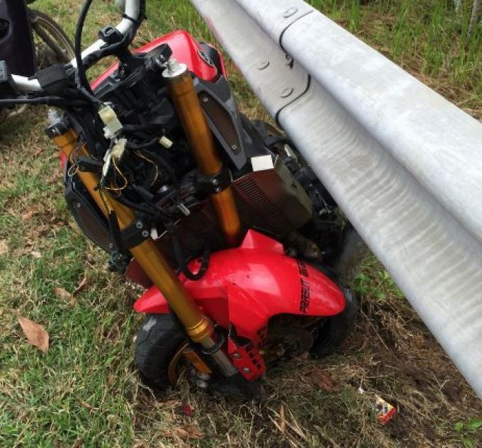 Un touriste hospitalisé à la suite d'un accident avec une grosse moto à Phuket