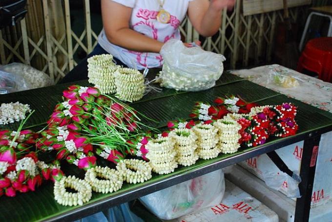 Phuang Malai : les guirlandes de fleurs thaïes