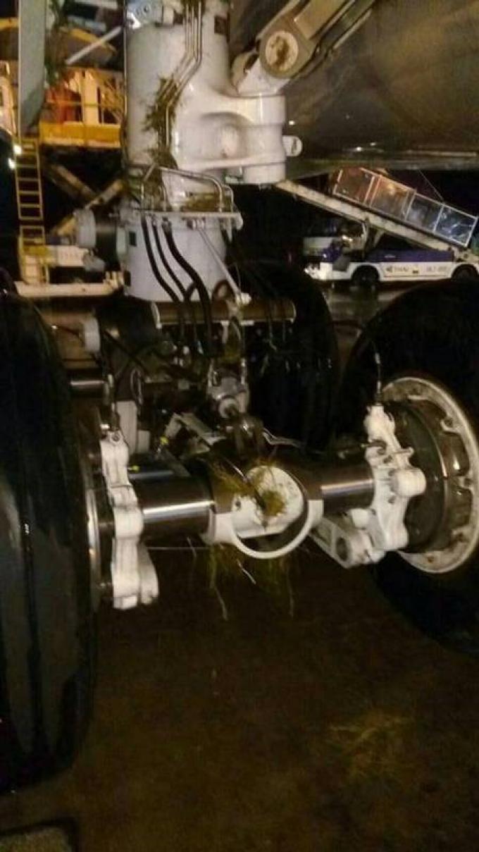 Un nouvel Airbus de la THAI dérape hors de la piste lors d'un atterrissage mouvementé dû à l�