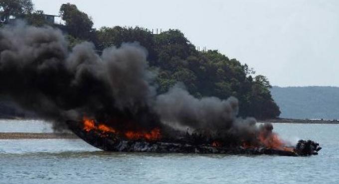 Trois blessés d'un speedboat englouti par les flammes à Phuket