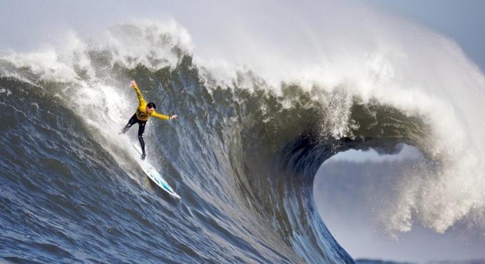Enfin! De grosses vagues