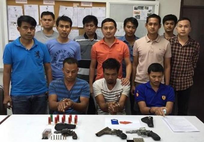 3 hommes arrêtés à Phuket pour drogue et armes