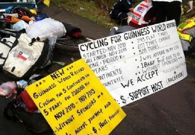 Un cycliste de la traversé des continents tué dans un accident Korat