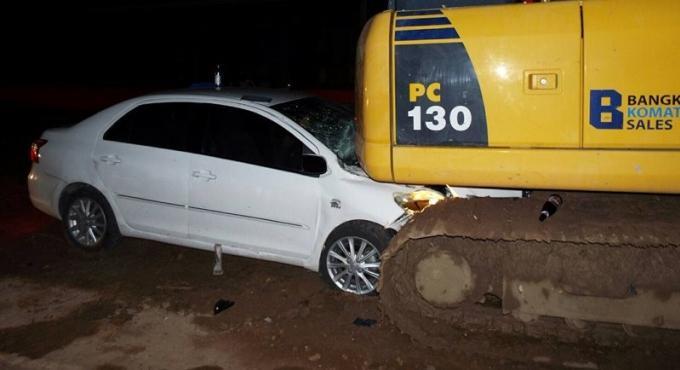 Trois russes blessés dans un accident avec une pelleteuse